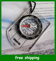 Wholesale Mini Multi function Portable Camp Compass with Ruler MM Inch Map Transparent Gifts