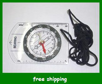 Wholesale Portable Mini Baseplate Compass Map Scale Ruler for Outdoor Camping Hiking Men Gifts