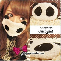 Wholesale cute panda face masks respirator mask guaze mask lovely expression