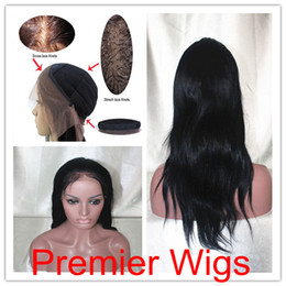 Wholesale Affordable Full Lace Wigs Jet Black Natural Straight quot Indian Remy Human Hair Cheaper Price
