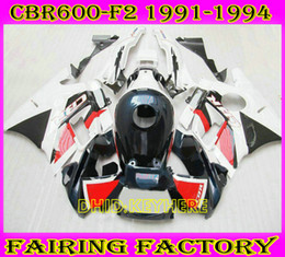 White dark blue Racing fairing for Honda CBR600F2 91 92 93 94 CBR600 F2 1991 1992 1993 1994 fairings