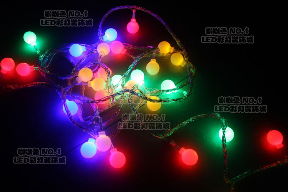 Round Christmas String Lights : 220v 10m Round Led Holiday Christmas Lights Bulbs Multi Color Cherry Gift Lights String Brown ...