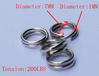 Wholesale 1000pcs Size fishing lures split rings fishing accessory ss Steel Double Loop Split Open Jum