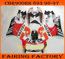 Orange repsol Race moto fairing for Honda CBR900RR 893 1996 1997 CBR 900RR CBR893 96 97 fairings set