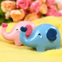 Wholesale Polyresin Elephant Figurines Home Deocr Animal Accessories Perfect Valentine s Day Gift