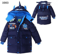 Christmas Boy 4-8 baby clothing boy's cool winter jackets outwear children boys winter down coat kids coat jackets