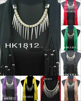 Wholesale Fashion Scarf jewelry necklace Hot pendants scarves charming charm Jewellery Mix Colors
