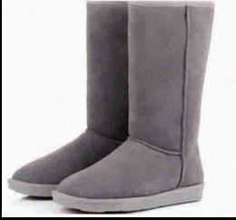 Womens Classic Tall Snow Boots girl Black Chocolate Sand Grey Chestnut