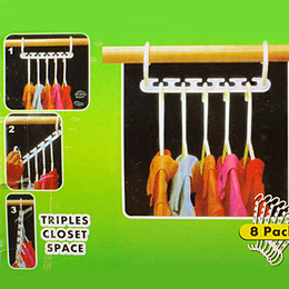 Wholesale 8 X Space Saver Wonder Magic Clothes Hanger Closet Organizer