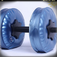 Wholesale gym weights dumbbells Water Poured Dumbbell have RoHS approved pairs