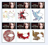 Wholesale 10pcs New Xmas halloween stickers Temporary Tattoos eye shadow stickers Body Tattoos