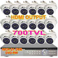 Wholesale 16 x TVL CCTV SYSTEM SONY CCD IR CCTV Vandal DOME Camera CH Full D1 GB Security Camera System