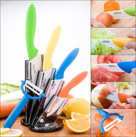 Wholesale 3 quot quot quot quot peeler Ceramic Chef s Horizontal Knife with Scabbard Ceramic Knife set HG939