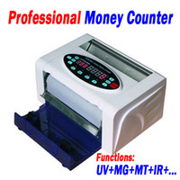 Wholesale Professional Money Cash Counter with UV MG MT IR Counterfeit Money Detector Functions EC E