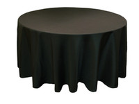Wholesale whole sales quot Round polyester table cloths banquet tablecloth black color