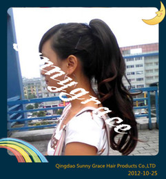Wholesale Beautiful Wavy Ponytail hair Brazilian hair sunnygrace