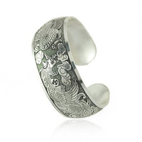Wholesale Special Price Retro Antique Silver Mascot Cuff Bracelets Good Luck Bracelets B029