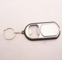 Aluminum Alloy bottle opener key ring - Fashion Can Opener Bottle Opener Key ring with Led Light Opener