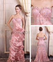 Wholesale 2012 Hot Sale Sexy Sweetheart Lace Chapel Train Evening Dress e