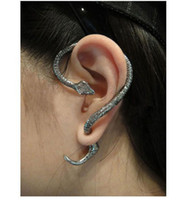 Wholesale 5 Gothic Punk Style Temptation Snake Back Ear Cuff Stud Earring