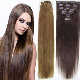 "50""Wide Human Hair Weft Extensions #24 medium blonde,20"" length,100g"