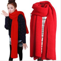 Wholesale Fashion Women Autumn Winter Warm Ultra Long Needle Thickening Solid Scarf