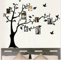 Wholesale LARGE Black Photo Picture Frame Tree Vine Branch Removable Wall Decor Decal Sticker LEFT FACING