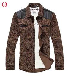 Wholesale Shirts Mens Shirt Mens Leopard Long Sleeves Shirt Christmas Gift Swag Casual Shirt Stylish Clothes