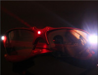 Halloween 17.5*3.5CM  LED Glasses Laser Glasses Protection Safety Glasses Disco Dance Costume Party Props Light Up Toys