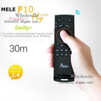 Wholesale NEW in GHz Wireless Mele F10 Fly Air Mouse Keyboard Remote Control for Android TV HD PC