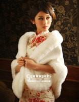 Wholesale 2013 Ivory Feathers Cheap Bridal Accessories Winter Fur Wedding Sleeveless Wrap Cape Shawl Jackets