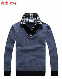 Wholesale 2012 men s clothing men s sweater new arrived grid V neck knit unlined upper garment DL02