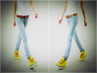 Skinny,Slim wholesale blue jeans - Denim Skinny Jeans Light Blue Causal Fashion Women s Tight Elastic Jeans YQ313