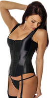 Wholesale New Colors Women satin body suits shapers with g string gater belt plus size S M L XL corset sets