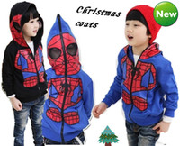 Wholesale Hot Sell Christmas Boy Coats Spiderman Thicker Fleece Jackets Hoodies Sweater Children s Clothing