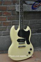 Solid Body 6 Strings Mahogany custom sg cream yellow Electric Guitar Chinese guitar free shipping