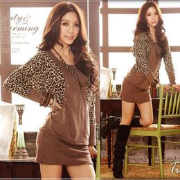 Wholesale 2013 New Arrival Fashion Women Double Breasted Rivet Dot Leopard Sexy Dress Cotton Cute Winter