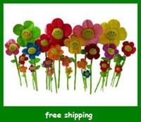 Wholesale Hot Plush sun flowers Kids Toys Cute Smile flower colors sizes choose Gifts Fast