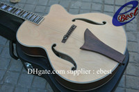 Wholesale natural jazz Hollow body acoustic guitar with EQ pickups acoustic electric guitar China guitar