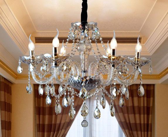 European Modern Luxury Noble K9 Crystal Chandelier Living ...