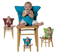 Wholesale kiskise Baby Eat chair Seat belt Portable Children dining chair belt colors