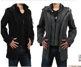 Wholesale new Korean version Men casual long coat Male Slim men long sleeve lapel COAT