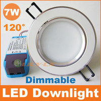 Wholesale 7W led downlight dimmable recessed ceiling lights beam angle AC110V V CE RoHS SAA