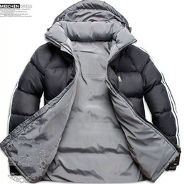 Wholesale 2012 Men Double Side Wear Thicken Winter Outdoor Windbreaker Heavy Coats Down Jacket Clothes L XL XX