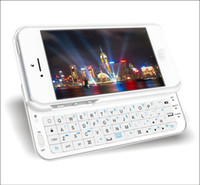 Wholesale mini Wireless Bluetooth Sliding Keyboard with case for Apple Cell Phone iphone iphone5 DHL