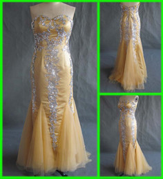Wholesale Custom Made New Style Tulle Mermaid Floor length Beaded Celebrity Dreses