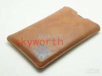 Wholesale 7 inch Sleeve PU Leather Case Pouch Cover For Android ALLwinner Ainol NOVO tablet pc MID