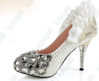 Wholesale Phoenix Bling Diamond cm Heels Waterproof Prom Evening Party Lady Bridal Wedding Shoes size34