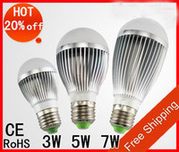 Wholesale high power W w w V golden silver led globe bulb E27 GU10 B22 lamp AC C pc