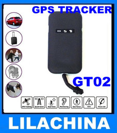 GPS tracker GT02 device Real Time 4 bands GSM GPRS GPS Tracking Device gt02 free shipping